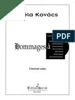 Bela Kovacs Homages