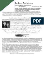 Nov 2008 Apalachee Audubon Society Newsletter