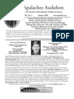 Jan 2009 Apalachee Audubon Society Newsletter