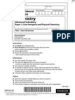 Specimen QP - Paper 1 Edexcel Chemistry as-Level
