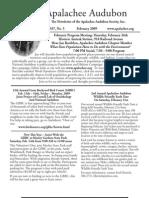 Feb 2009 Apalachee Audubon Society Newsletter