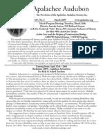 Mar 2009 Apalachee Audubon Society Newsletter