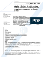 (acustica-portugues) NBR 6394 - Acustica - Medicao de ruido emitido por maq.pdf