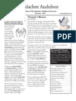 Sept 2009 Apalachee Audubon Society Newsletter