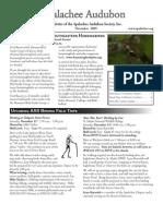 NOV 2009 Apalachee Audubon Society Newsletter