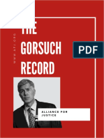 The Gorsuch Record