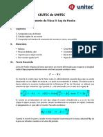 Laboratorio #1 Ley de Hooke (Física II)