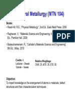 Strutural Metallurgy- Chapter 1