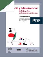 Infancia y Adolescencia Trabajo y Otras Actividades Economicas