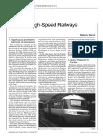 Future of High-Speed Railways