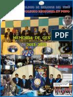 Memoria de Gestión Del CBP CRXV 2013-15