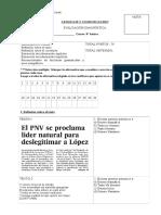 Evaluación diagnóstica 8° básico Lenguaje