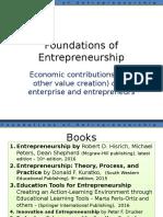 Lecture 3 - Economic Contributions by Entrepreneurs