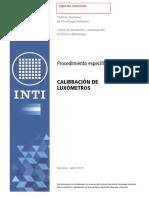 procedimiento calibracion luxometros