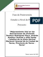PIP Mejoramiento Vial JV MCáceres