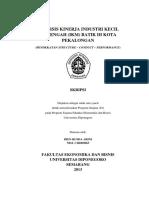 Analisis Kinerja IKM Batik - SCP Approach