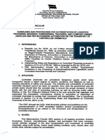 Philippine National Police Guidelines and Procedures in Accreditation of 3PLs for Transport of Controlled Chemicals