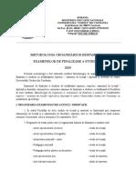 Metodologie Finalizare Studii FA 2015