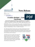 ALPLM to open Cubs versus Cards exhibit