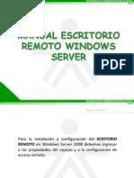 Manual Escritorio Remoto Windows Server