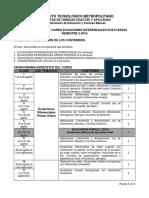 Cronograma Ecuaciones Diferenciales EDX44 2016-2