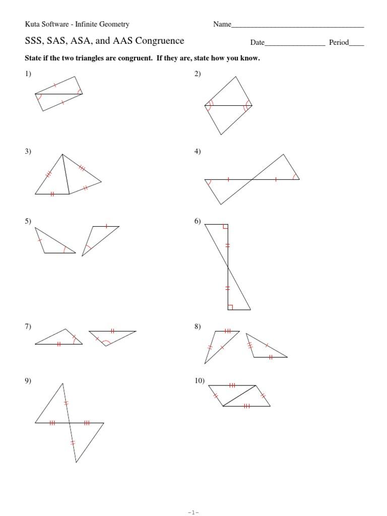 4 sss sas asa and aas congruence by HHS Geometry - issuu