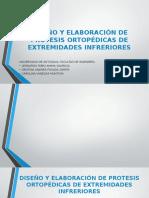 DISEÑO Y ELABORACIÓN DE PROTESIS ORTOPÉDICAS DE EXTREMIDADES INFRERIORES