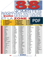 La liste des économistes qui remettent en cause l'euro, selon le Front National