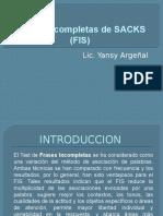 Frases Incompletas de SACKS (FIS)