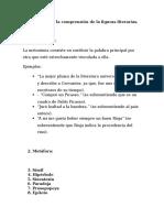 Material Para La Comprensión de La Figuras Literarias