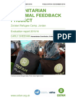 Humanitarian Informal feedback project