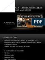 Analyzing Customer Satisfaction Level at Giordano Store