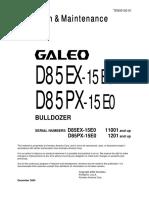 O&M D85 EX,PX 15 TIER 3 TEN00102-01D