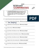 Atg Worksheet2 Presentcont