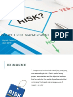 210416 - Mark Debono - Understanding Risk in the Field of Project Management