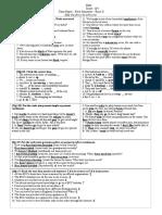 Teza 9D - Randul II - Answer Key