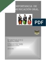 La Importancia de La Comunicación Oral.
