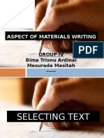 Aspects of Materials Writing