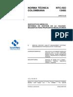 Dispositivos Médicos. Sistemas de Gestión de La Calidad. Requisitos Para Propósitos Regulatorios Ntc