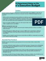 DOHMH Notes on Gov Exec Budget, 2.8.17