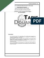 Nouveau Tarif Douanier à 10 Chiffres année 2016