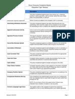 TDI Dispositions Descriptions