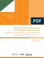 Lineamientos generales para la presentacion del examen de estado Saber 11 2016 v4.pdf