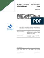 NTC ISO IEC 17011 (2005-09-14) EVALUACIÓN DE LA CONFORMIDAD.pdf