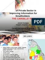 Case Study for Sri Lanka-Cargills for Smallholders