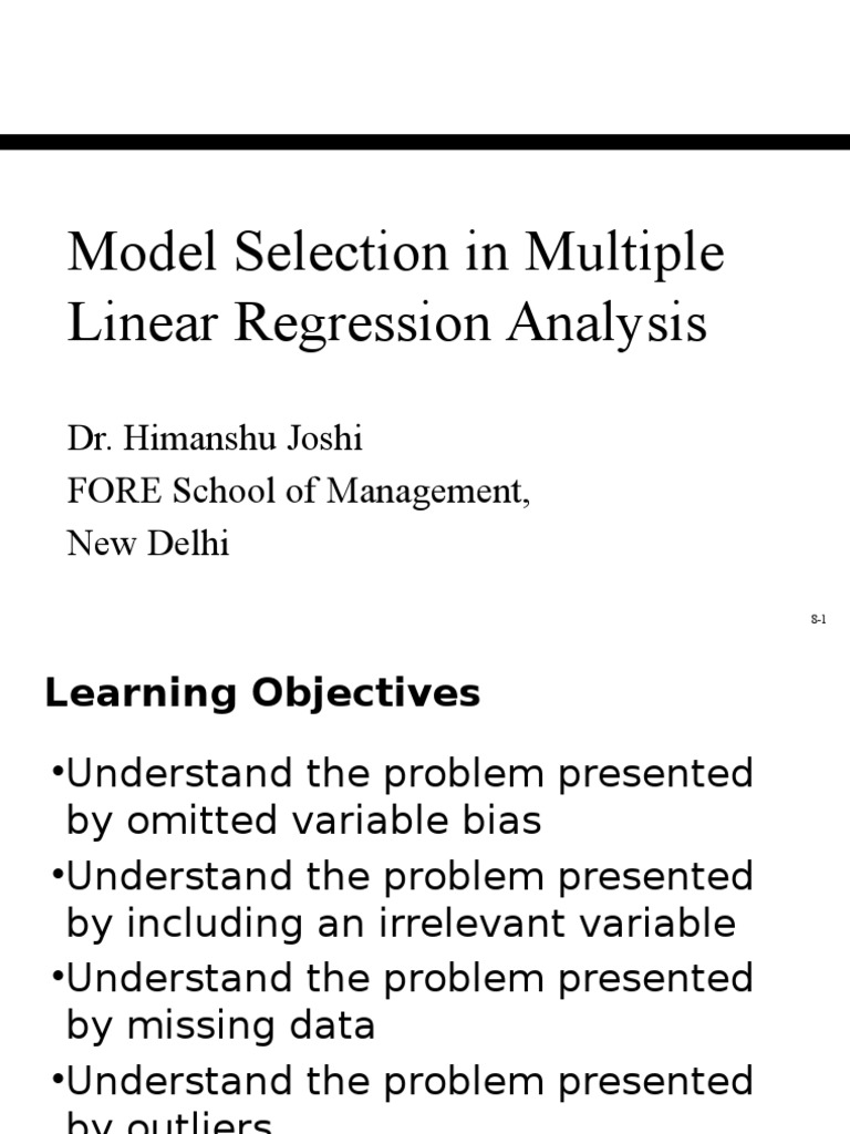 Model Specification In Multiple Regression Analysis Errors And
