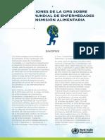 2015 Cha Estimaciones Oms sobre la Carga Mundial  de enfermeddes de Transmicion  Alimentaria