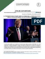 20-02-17 El Presidente Donald Trump cumple su primer mes al frente de EU- Evaluación General