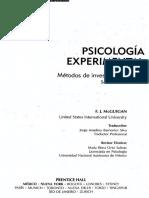 Psicología Experimental McGuigan
