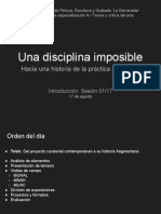 Una Disciplina Imposible 01